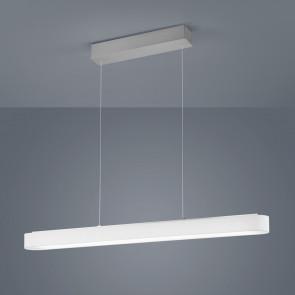 Luminaire Helestra moderne gris blanche