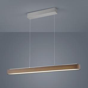 Luminaire Helestra moderne marron|gris