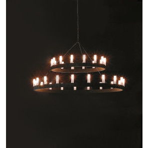 Luminaire FontanaArte antique noire|transparent