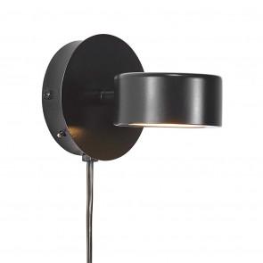 Clyde Ø 8,5 cm schwarz 1-flammig rund