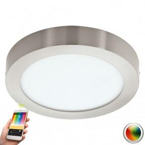 Fueva-C, LED, Ø 22,5 cm, Farbwechsel, CCT, Nickel-matt