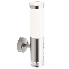 Bole, LED, mit Bewegungs- und Dämmerungssensor, metallisch