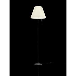 Costanza, hauteur 120-160 cm, variateur sensoriel, modèle complète, aluminium, abat-jour blanc
