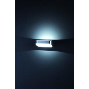 Onno, LED, 7 x 18 cm, aluminium/blanc