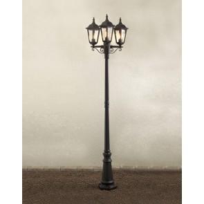 Firenze, 3-lampes, hauteur 220 cm, noir