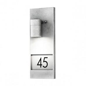 Modena, hauteur 41 cm, espace pour pour trois nombres, galvanisée