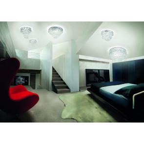 Luminaire Vistosi moderne chrome|transparent